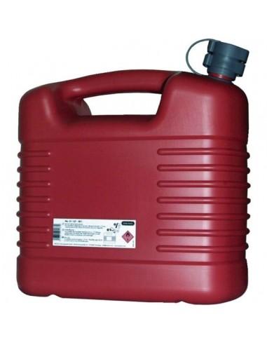 Jerrycan plastique hydrocarbure rouge 10 l - jerrican