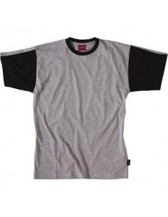 Tee shirt work attitude gris 85 % coton 185 grs/m² t 1 ou s
