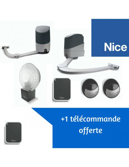 Automatisme de portail battant NICE Popkit 7124 + 1 télécommande offerte
