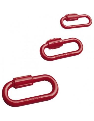 Maillon rapide polyamide vrac d 8 rouge 223