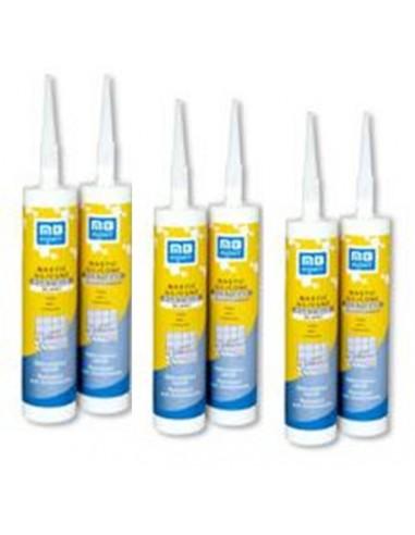 Mastic silicone sanitaire acétique blanc  310 ML