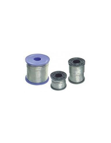 Bobine de fil d'etain vrac - diamètre fil:1,5 mmetain ( % ):60 % poids:1000 g
