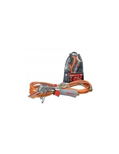 Fer a souder de couvreur vrac - réf.:6367/9 désignation:fer de couvreur + 4,75 m de tuyau + détendeur 682 dans un sac
