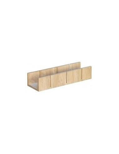 Boîte a onglet «eco» vrac - dimensions intérieures:250 x 75 x h. 50 mm