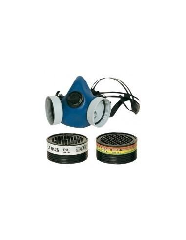 Masque de protection a cartouches boîte - caractéristiques:lot de 2 cartouches filtrantes abek : pour gaz et vapeurs organiques