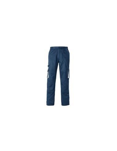 Pantalon de travail film rétractable -  couleur:bleu marine/gris taille:56/58