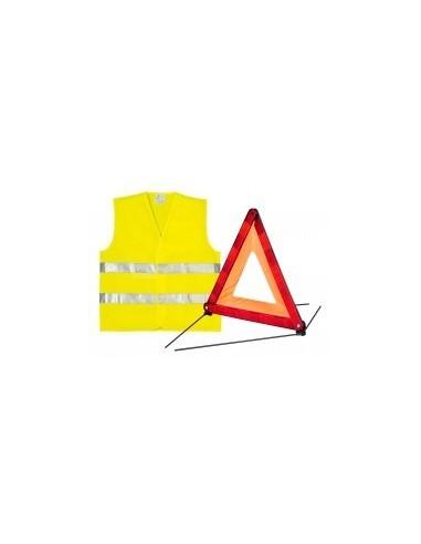 Kit de signalisation vrac - caractéristiques:kit signalisation gilet + triangle