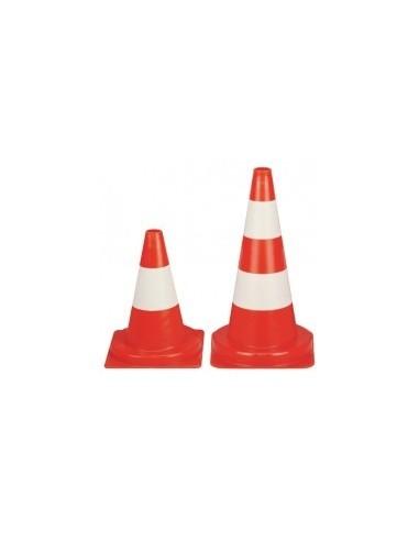 Cone de signalisation vrac -  hauteur:50 cm