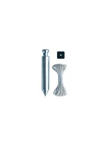 Plomb de platrier + cordeau sur carte -  diamètre:16 mm