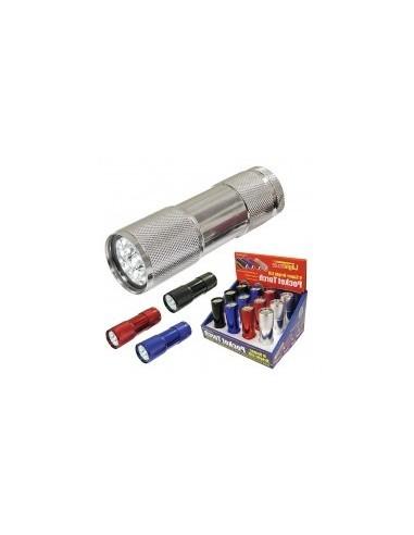Mini torche 9 led vrac - caractéristiques:mini torche 9 led - 30 lumens alimentation:3 piles lr3 / aaa / 1,5v