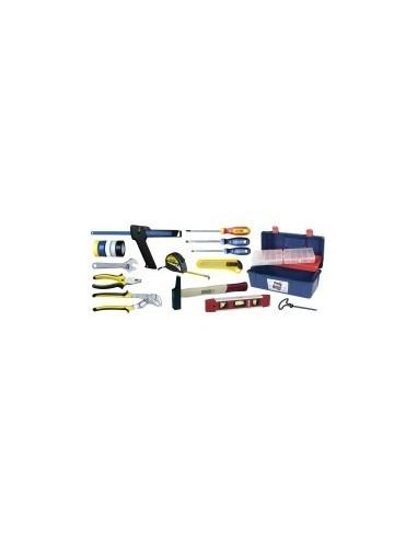 Caisse a outils - 17 pieces vrac -  composition:17 pièces
