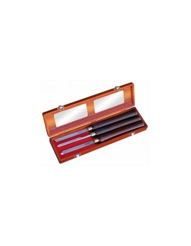 Coffret de 3 outils de tourneur vrac - caractéristiques:coffret de 3 outils de tourneur