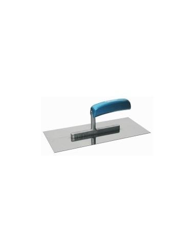 Platoir inox vrac -  dimensions:28 x 12 cm forme:rectangle 2 côtés crantés 6 mm