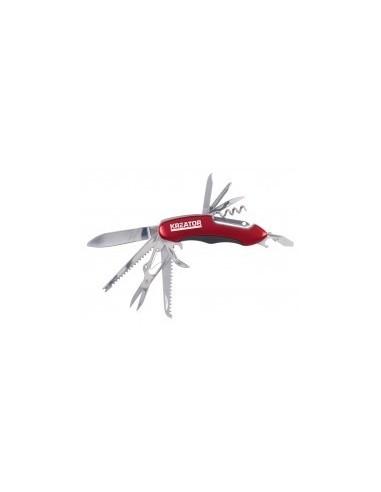 Couteau multifonctions sur carte -  longueur:90 mm