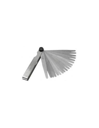 Jauges d'epaisseur vrac - caractéristiques:18 lames rondes 100 mm