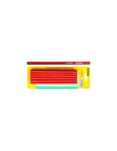 Crayons de menuisier 18 et 25 cm sur carte -  désignation:2 crayons longueur:250 mm