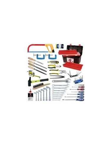 Caisse a outils - 56 pieces vrac -  composition:56 pièces