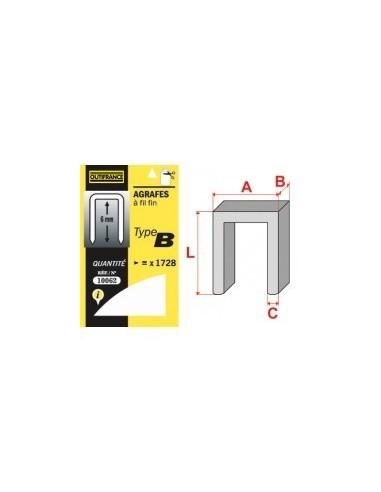 Agrafes - type b blibox -  longueur pattes:10 mm quantité:864 p.