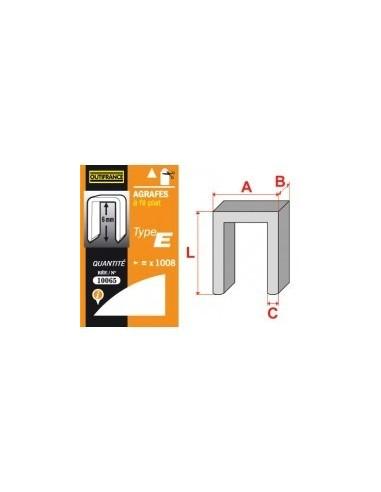 Agrafes - type e blibox -  longueur pattes:12 mm quantité:504 p.