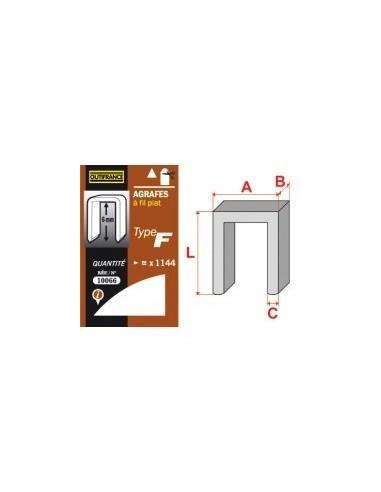 Agrafes - type f blibox -  longueur pattes:8 mm quantité:880 p.