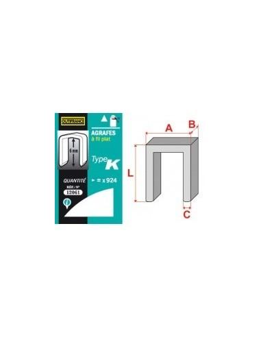 Agrafes - type k blibox -  longueur pattes:12 mm quantité:588 p.