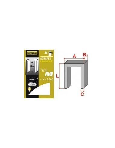 Agrafes - type m blibox -  longueur pattes:23 mm quantité:576 p.
