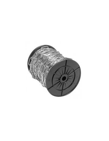 Chaine droite soudee zinguee vrac - charge utile:500 kgdiamètre fil:6 mmintérieur maille:42 x 12 mm longueur:12,5 m