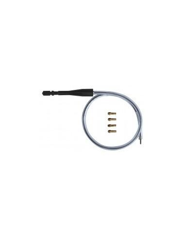 Flexible 560 mm + 4 pinces laiton sur carte -  longueur:560 mmcapacité max:3,0 mm