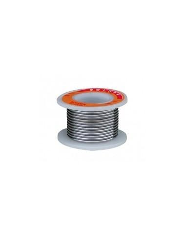 Bobines de fil d'etain sur carte -  désignation:bobine de soudureetain:60 %ø fil:1 mmpoids bobine:50 g