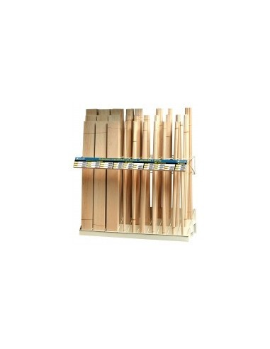 Presentoir de balsa vrac -  désignation:présentoir de 28 références de balsa dimensions:1000 x 350 x h 1200 mm