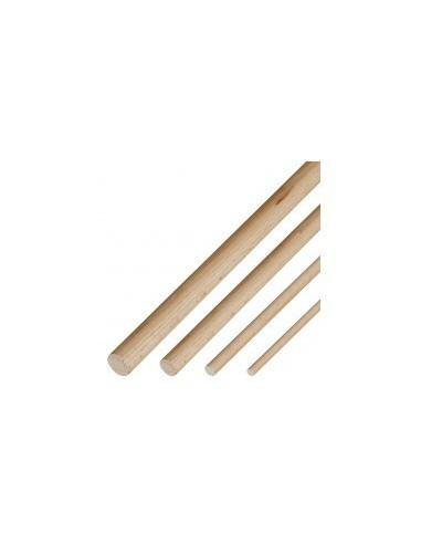Baguettes rondes de hetre vrac -  diamètre:ø 4,0 mm