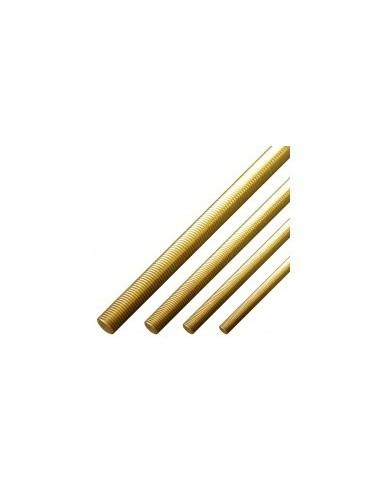Tiges filetees laiton vrac -  diamètre:ø 2,5 mm