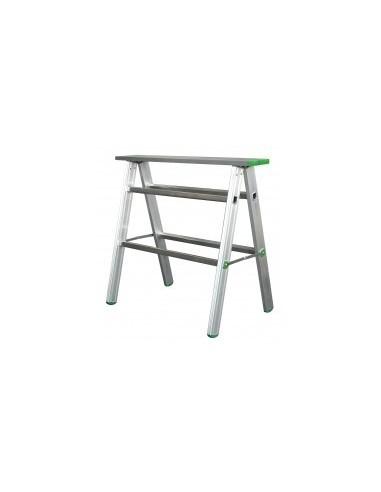 Treteau aluminium pro vrac -  dimensions:900 x 800 mmhaut. travail:800 mm section:65 x 25 mm poids:6,0 kg