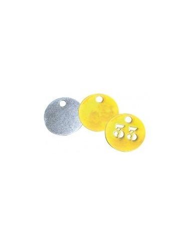 Jetons alu et laiton vrac -  désignation:jeton neutre en alu diamètre:30 mm