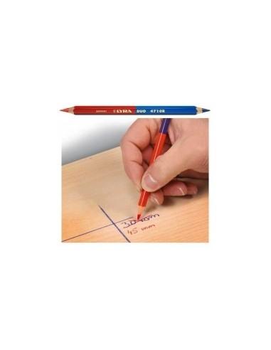 Crayon bicolore geant boîte -  désignation:12 crayons longueur:175 mm