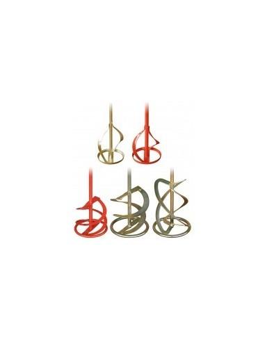Turbines m10 / m14 pour melangeurs electriques libre service - type:wrg rouge - double spirale renforcée diamètre:140 mmaxe:m14