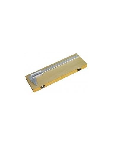 Pied a coulisse 1/50 mm vrac -  désignation:pied à coulisse + réglet 200 mm en coffret boiscapacité:200 mm