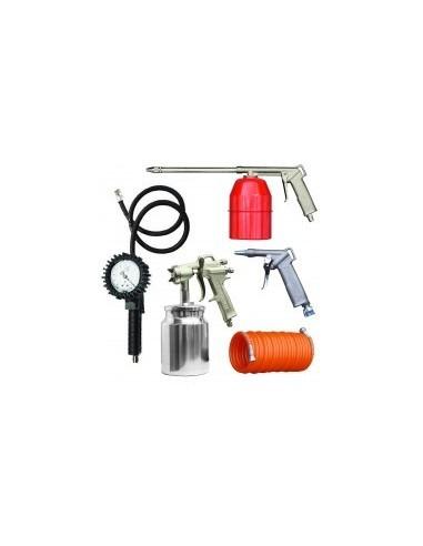 Kit gonflage / soufflage / nettoyage / peinture libre service -  désignation:kit 5 accessoires poids:2,1 kg