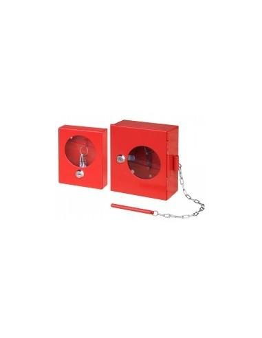 Boîtiers de securite vrac - caractéristiques:boîtier de sécurité avec vitre + brise glace dimensions:140 x 60 x h. 160 mm