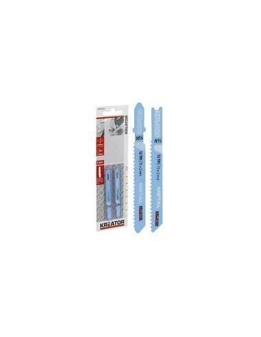 Lames de scies sauteuses hss pour metaux sur carte -  désignation:2 lames longueur:75 mmdenture:12 tpi - pas de 2 mmfixation:for