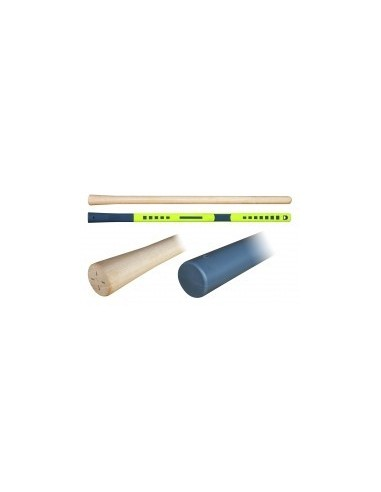 Manches de pioche vrac -  désignation:manche de pioche ovale fibre de verre dimensions:38 x 26 x 900 mmemmanchement:rond évasé