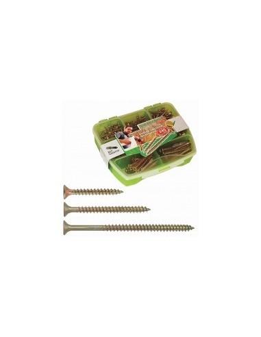 Vis a bois boîte - réf.:r-uc-6100 désignation:boîte de 100 vis ø 6,0 x 100 mmfiletage:partielempreinte de vissage:pz 3