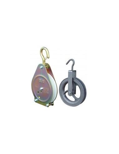 Poulies vrac -  désignation:poulie de puits pour cordes ø 20 mm diamètre:18 cmcharge autorisée:30 kg