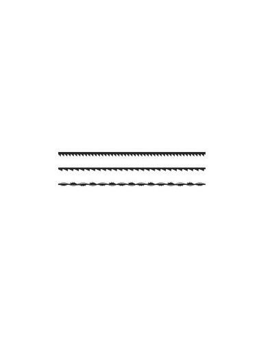 Lames de scie 160 mm sur carte - réf.: désignation:carte de 12 lames torsadéesutilisation:bois / plastique - chantournagedentu