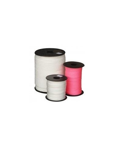 Tresse polypropylene vrac -  couleur:rose fluo diamètre:2 mm longueur:200 m poids:384 g