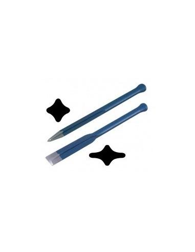 Broches et ciseaux de maçon a gorge vrac -  dimensions:350 x 16 mm