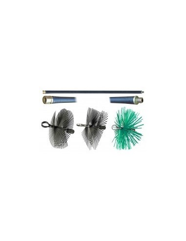 Tringles et herissons de ramonage vrac - caractéristiques:hérisson rond synthétique - ø 250 mm