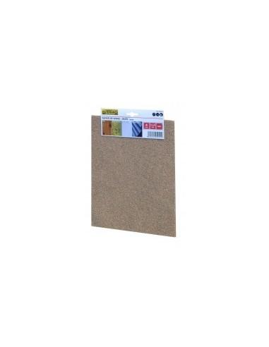 Papier silex film rétractable -  désignation:50 feuilles grain:180