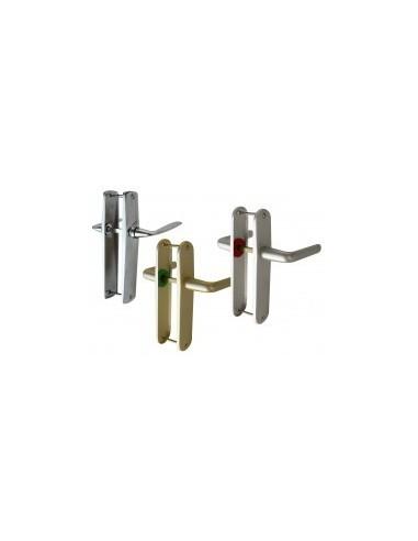 Poignees de porte vrac - caractéristiques:bec de cane + condamnation à bouton