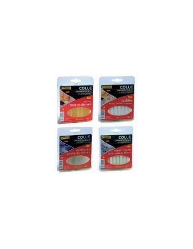 Colle thermofusible en b,ton blibox - réf.: désignation:15 b,tons de colle plastiques, céramiquesø b,ton:12 mmlong. b,ton